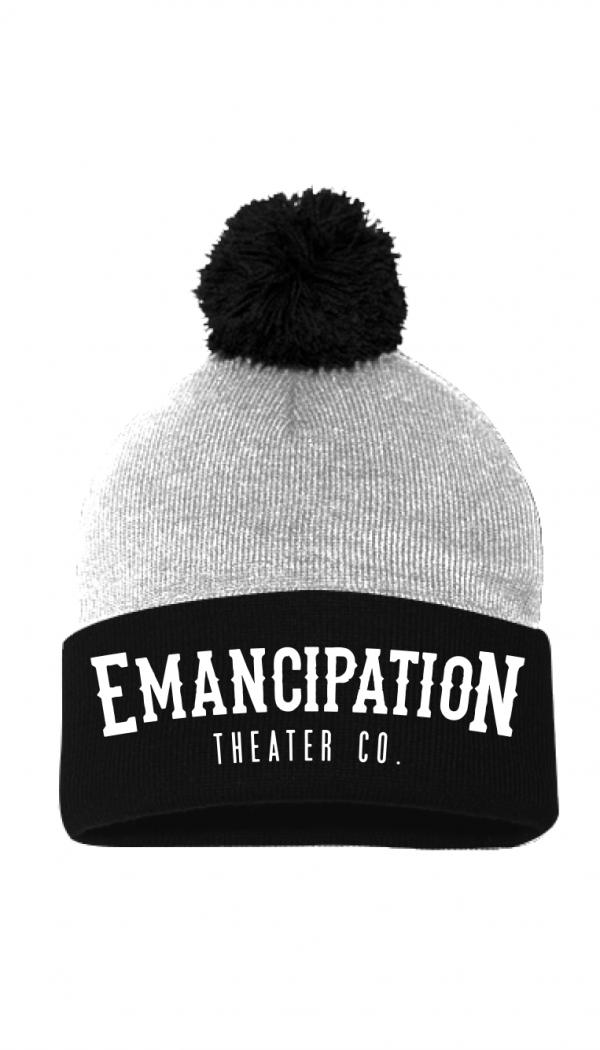 Emancipation Theater Co. Gray & Black Beenie